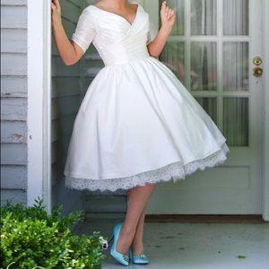 The Beverlywood Tea Length Wedding Dress